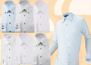 完全ノーアイロンアイシャツ3枚セット定番カラー福袋