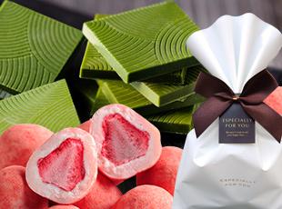 昨年1万個完売★濃厚抹茶と苺チョコ