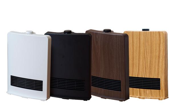 インテリアに合わせた4色カラー♪速暖セラミックファンヒーター