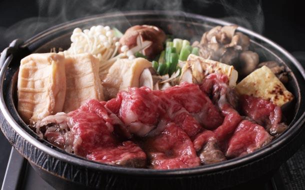 近江牛のバラ・モモ・ロースの豪華三種とすき焼きのタレがセット