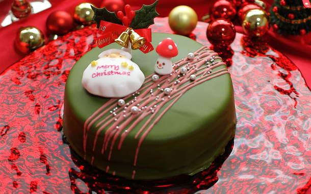 クリスマスケーキ。濃厚な抹茶の味わい。こだわりのザッハトルテ