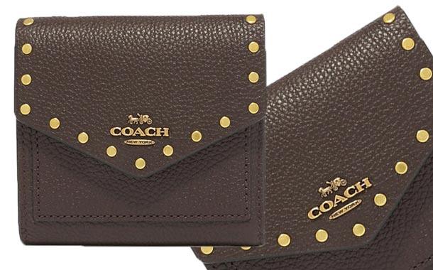 【COACH★コーチ】ブラック 人気のミニ財布 送料無料!